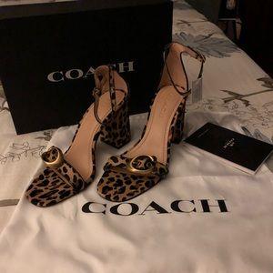 Coach Shoes - Open toe block Coach heels size 7.5b